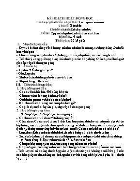 Giáo án mầm non lớp lá - Chủ đề: Bản thân - Chủ đề nhánh: Đồ chơi của bé - Đề tài: Dạy trẻ nhận biết nhiều hơn và ít hơn