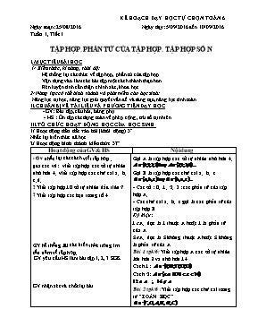 Giáo án Toán 6 - Tập hợp, phần tử của tập hợp. tập hợp số N