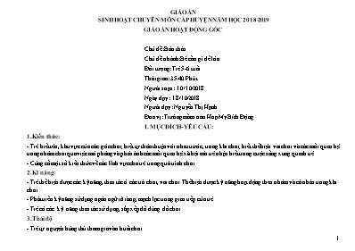 Giáo án Lớp Lá - Chủ đề: Bản thân - Chủ đề nhánh: Bé cần gì để lớn - Nguyễn Thị Hạnh