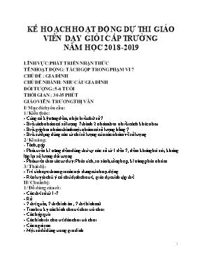 Giáo án Lớp Lá - Chủ đề: Gia đình - Chủ đề nhánh: Nhu cầu gia đình - Trương Thị Vân