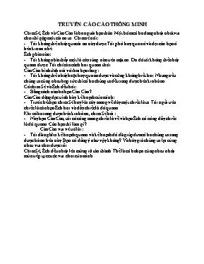 Giáo án Lớp Lá - Chủ đề: Thế giới động vật - Đề tài: Truyện