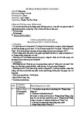 Giáo án Lớp Mầm - Chủ đề: Bản thân - Làm quen chữ cái: Chữ ê dễ thương - Thạch Thị Thu Thảo