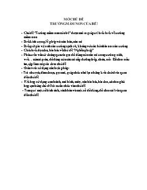 Giáo án Lớp Mầm - Chủ đề: Trường mầm non của bé