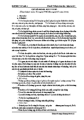 Giáo án Lớp Mầm - Chủ điểm: Thế giới thực vật - Chủ đề nhánh: Ngày vui 8/3 - Đặng Thị Minh Nga