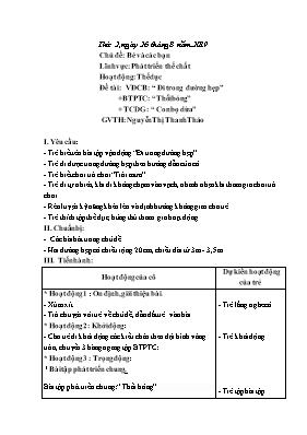 Giáo án Lớp Nhà trẻ - Chủ đề: Bé và các bạn - Đề tài: VĐCB