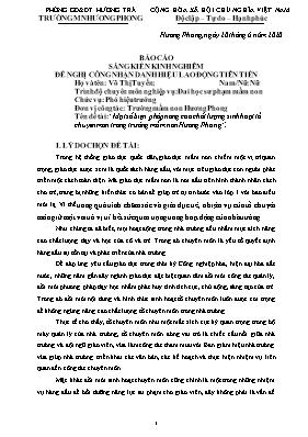 Một số biện pháp nâng cao chất lượng sinh hoạt tổ chuyên môn trong trường mầm non Hương Phong