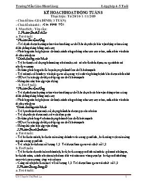 Giáo án Lớp Chồi - Chủ đề lớn: Gia đình (3 tuần) - Chủ đề nhánh 1: Gia đình tôi - Thạch Thị Phol La